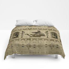 Egyptian Anubis Ornament Comforters
