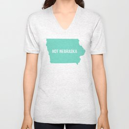 Not Nebraska  Unisex V-Neck