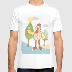 sunny rooster Mens Fitted Tee White MEDIUM