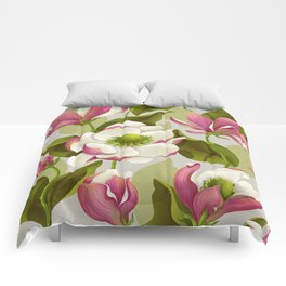 magnolia bloom - daytime version Comforters