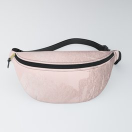 Rose Gold Pastel Pink Paint Brush Fanny Pack