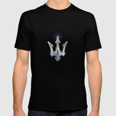 Maserati LARGE Mens Fitted Tee Black