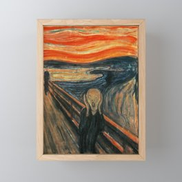 The Scream by Edvard Munch Framed Mini Art Print