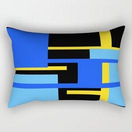 Rectangles - Blues, Yellow and Black Rectangular Pillow