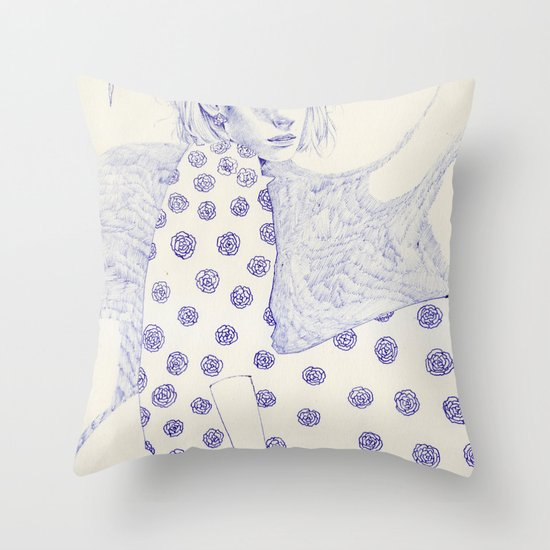 Flowery Throw Pillow