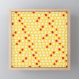 Abc's yellow Framed Mini Art Print