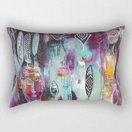 """Muse Dance"" Original Painting by Flora Bowley Rectangular Pillow"