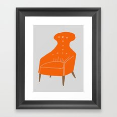 Orange Chair Framed Art Print