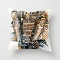 A cube with a view Throw Pillow