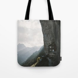 Mountain Cabin - Landscape Photography Tote Bag