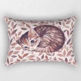 Sleepy cat. Watercolor Rectangular Pillow