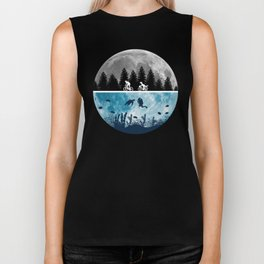 Close Encounters of the Moon Biker Tank