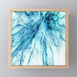 Special Fireworks, aqua Framed Mini Art Print
