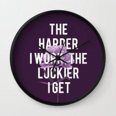 The Harder I Work Wall Clock