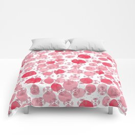 Red Paint Dabs Comforters