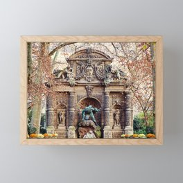 Medici Fountain in Autumn Framed Mini Art Print