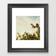 Sit a While Framed Art Print