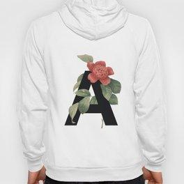 Floral Alphabet Prints: Letter A Hoody