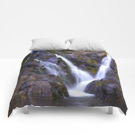 Purple Waterfall Comforters