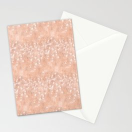 Nude Feather Pattern Stationery Cards