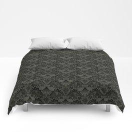 Stegosaurus Lace - Black / Grey Comforters