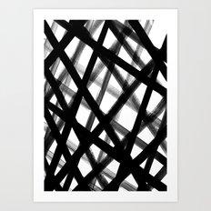 Criss Cross Black and White Art Print