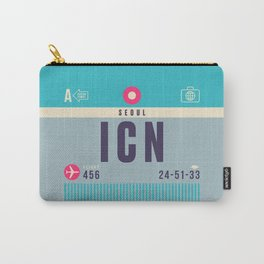 Retro Airline Luggage Tag - ICN Seoul Korea Carry-All Pouch