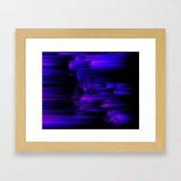Ultraviolet Light Speed - Abstract Glitch Pixel Art Framed Art Print