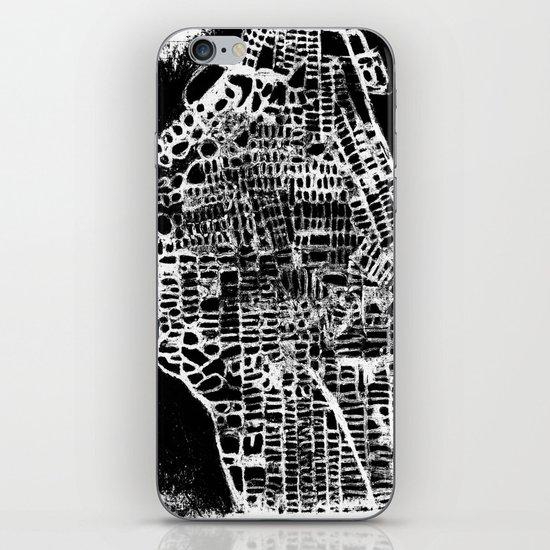 NEW YORK CITY MAP iPhone & iPod Skin