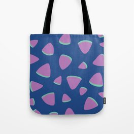 Abstract Graphic Pattern | Blue | Pink | Green Tote Bag