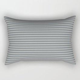 Benjamin Moore Hale Navy Blue Gray Triple Horizontal Stripes on Color of the Year 2019 Metropolitan Rectangular Pillow