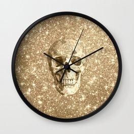 Modern sparkling Skull C Wall Clock