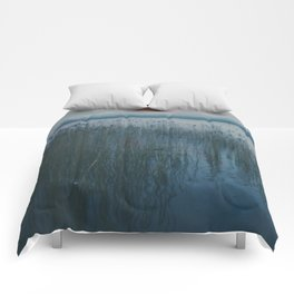 Polaroid lovers ~ river reeds Comforters