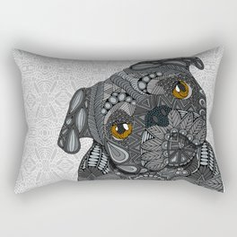 Black Pug 2016 Rectangular Pillow