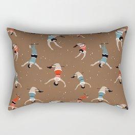 Acrobats repeat pattern Rectangular Pillow
