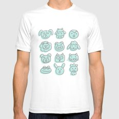 animal cuteness MEDIUM White Mens Fitted Tee