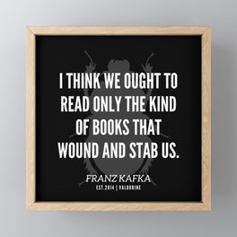 13   |  Franz Kafka Quotes | 190517 Framed Mini Art Print