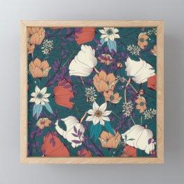 Botanical pattern 008 Framed Mini Art Print