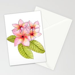 Pretty Pink Plumerias Stationery Cards