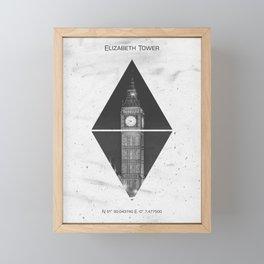 Coordinates LONDON Elizabeth Tower Framed Mini Art Print