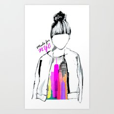MADE FOR NYC Art Print