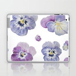 Watercolor Pansy Pattern Laptop & iPad Skin