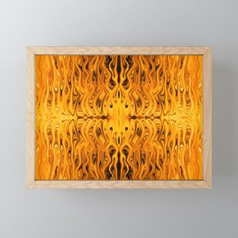 Flaming Squid by Chris Sparks Framed Mini Art Print
