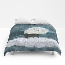 the sky whale Comforters