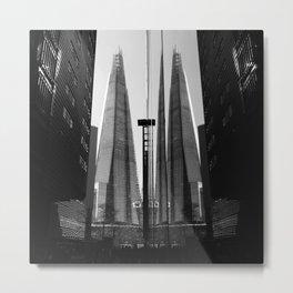 Shards - Black And White London Architecture Print Metal Print