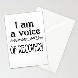 I am a Voice of Recovery Stationery Cards