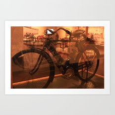 The dawn of motorcycles Art Print