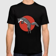 Leaping Fox Black MEDIUM Mens Fitted Tee