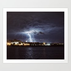 Bolts in the Night Art Print