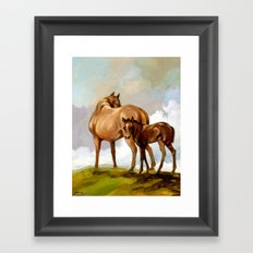 Thoroughbred Mare and Foal Framed Art Print